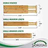 Bamboo Drawer Dividers (Set of 6) - Kitchen
