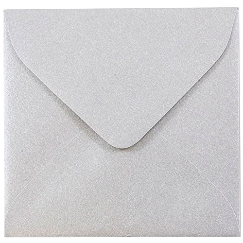 - JAM Paper 3.125 x 3.125 Square Envelopes - Stardream Metallic Silver - 1000/carton
