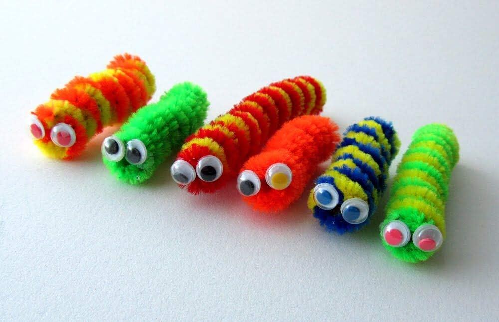 School Art Projects Decorations 350 Pieces 35 Colors Pipe Cleaners 150 Pieces Googly Eyes for DIY Art Creative Crafts Decorations