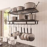 KES 30-Inch Kitchen Pan Pot Rack Wall Mounted Hanging...