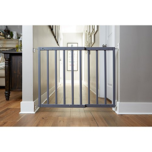 """Primetime Petz Safety Mate Expandable Pet and Baby Gate, Sturdy Wall Mountable Safety Gate for Hallways, Stairs, or Outdoor Use, Fits Openings from 24.5"""" to 41"""", Grey by Primetime Petz (Image #2)"""