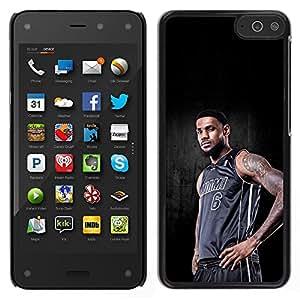 Miami 6 Baloncesto - Metal de aluminio y de plástico duro Caja del teléfono - Negro - Amazon Fire Phone