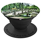 Green Zen Garden Arch Bridge - PopSockets Grip and Stand for Phones and Tablets
