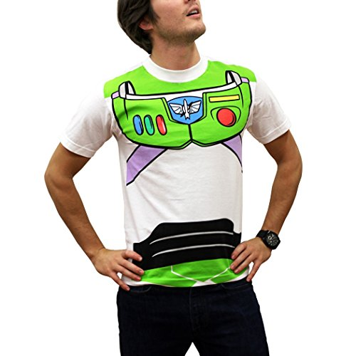 [Toy Story Buzz Lightyear Costume T-Shirt-Large] (Buzz Lightyear Costumes Women)