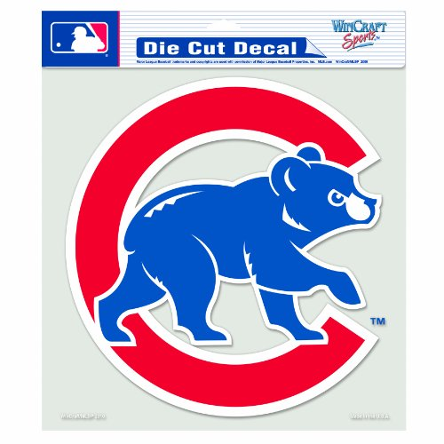 MLB Chicago Cubs 8-by-8 Inch Diecut Colored ()