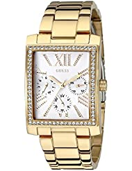 GUESS Womens U0446L2 Stunning Retro Gold-Tone Multi-Function Watch