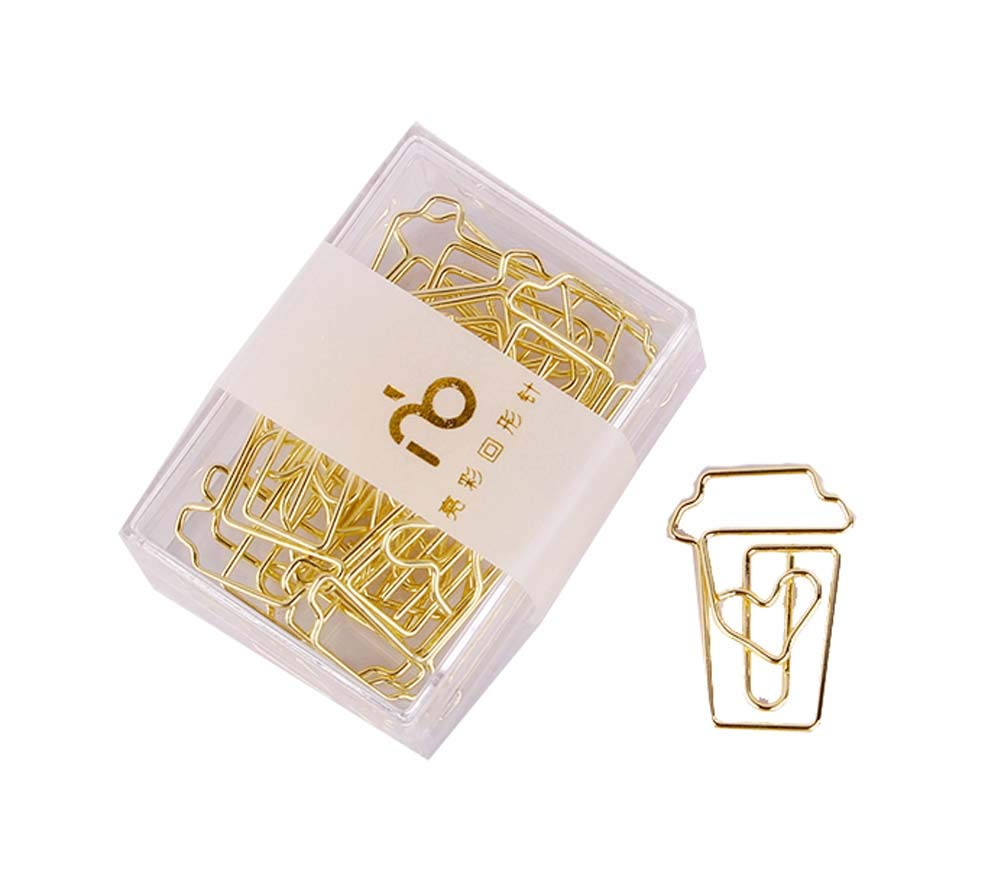 Creative Design Paper Clips for Office and Document Organization 12PCS, C7