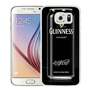 Popular Sale Samsung Galaxy S6,Guinness White Unique Custom Samsung Galaxy S6 Phone Case
