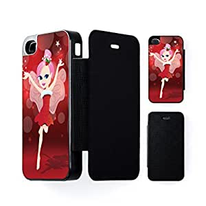 christmas Fairy Black Flip Case for Apple? iPhone 4 / 4s by Nick Greenaway + FREE Crystal Clear Screen Protector wangjiang maoyi