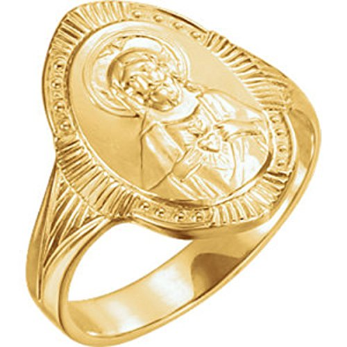 Roxx Fine Jewelry Sacred Heart of Jesus Ring 14K Yellow Gold 17.5mm R16639 by Roxx Fine Jewelry