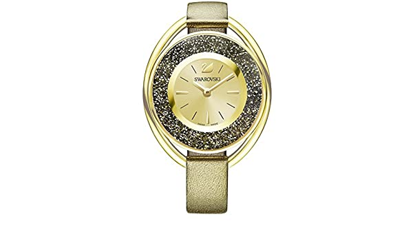 Amazon.com: Swarovski Crystalline Oval Ladies Watch - Golden - 5296314: Watches