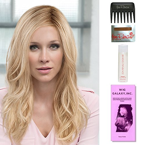 Arrow by Ellen Wille, Wig Galaxy Hair Loss Booklet, 2oz Travel Size Wig Shampoo, Wig Cap, & Wide Tooth Comb (Bundle - 5 Items), Color Chosen: Caramel Lighted by Ellen Wille & Wig Galaxy