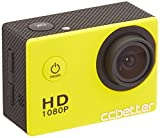 CCbetter Sports Action Camera CS710 12MP 1080P 120 Degree Waterproof Diving Video DVR (Yellow)