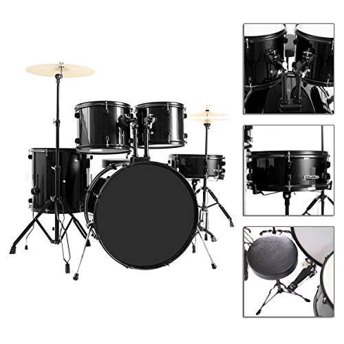 full-size-5-piece-adult-drum-set-complete-with-poplar-cypress-wood-shells-and-high-gloss-finish-tc-0