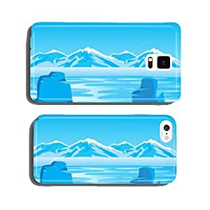 Arctic landscape with iceberg cell phone cover case iPhone6
