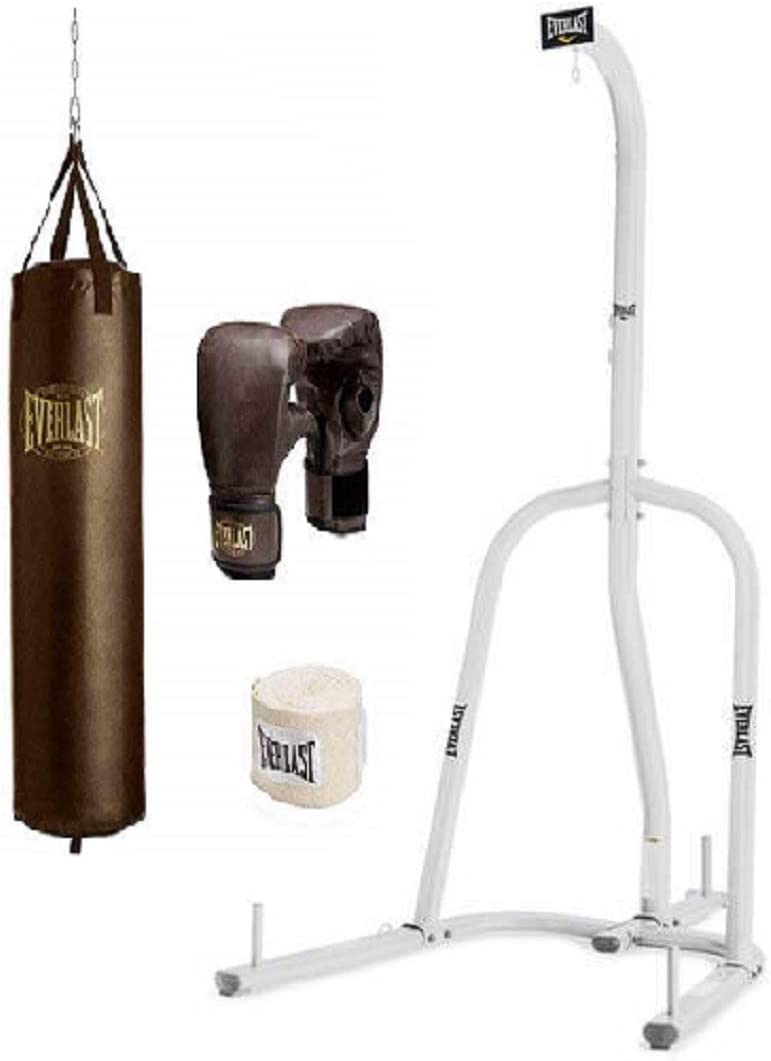 Everlast Single-Station Heavy Punching Bag Stands with a 70-lb. Heavy Bag Kit