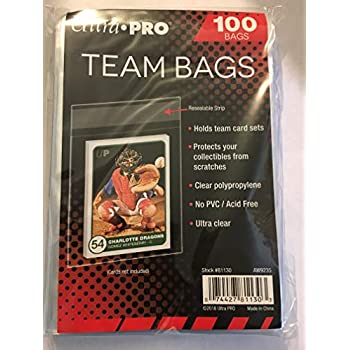 Verzamelkaarten, ruilkaarten Verzamelingen 100 Ultra Pro Team Bags 1 pack Resealable Strip  New Acid Free No PVC