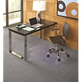 ES Robbins EverLife Lipped Foldable Chair Mat for Flat to Low Pile Carpet, 36 by 48-Inch, Clear
