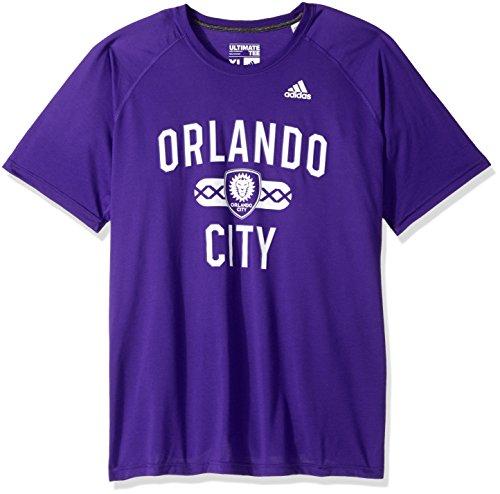 adidas MLS Orlando City FC Adult Men Sprint Ultimate S/Tee, Medium, Regal Purple (Fc Apparel Pride)