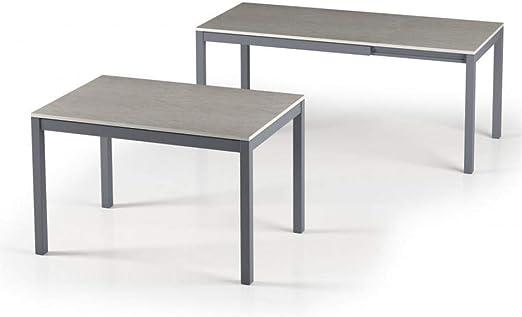 Terraneo Alungo - Mesa de Comedor Extensible (120 x 80 cm, Acabado ...