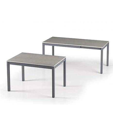 Terraneo Alungo - Mesa de Comedor Extensible (120 x 80 cm ...