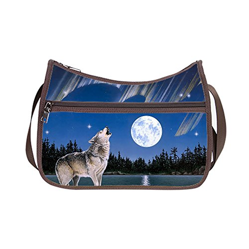 Design Shoulder Wolf Twin E Handbag Classic Sides Oxford Fabric Hobo Lightweigh Custom wO8gAIqx