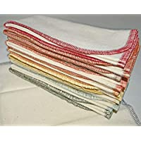 1 Ply Organic Cotton Flannel Paperless Towels 11x12 Inches Set of 10 Earthtones Assortment