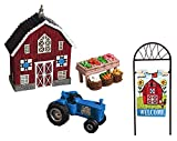 New Creative Welcome to My Farm Mini Garden 4 Piece Set