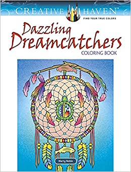 creative haven dazzling dreamcatchers coloring book adult coloring