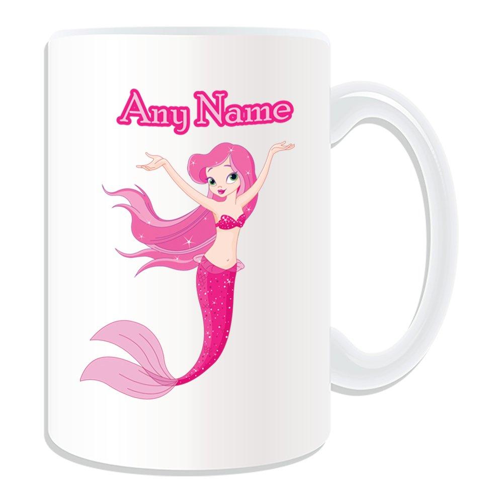 De regalo con mensaje personalizado - tamaño grande de sirena taza (molde para hacer una diseño de, blanco) - nombre personalizable para/en tu diseño de con ...