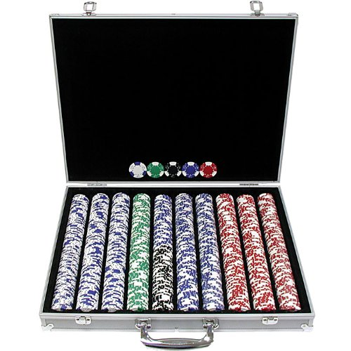 Lucky Crown Poker Chip Set with Executive Case (1000-Piece), 11.5gm