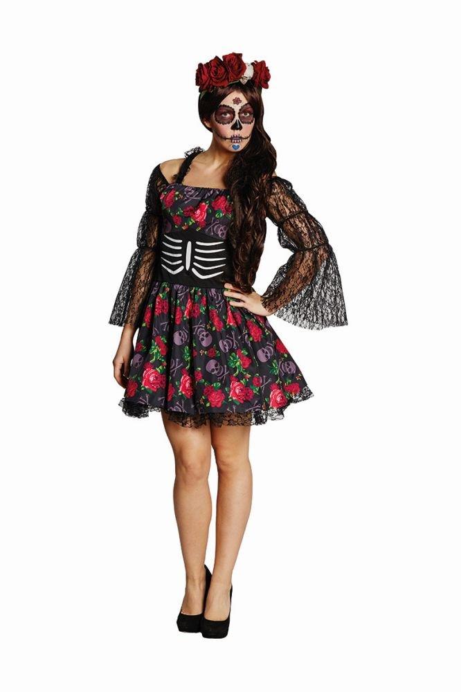 Damen Kostüm La Catrina Skelett Dia de los muertos Halloween Gr.36 B015OLEEP6 Kostüme für Erwachsene Qualitätsprodukte     | Praktisch Und Wirtschaftlich