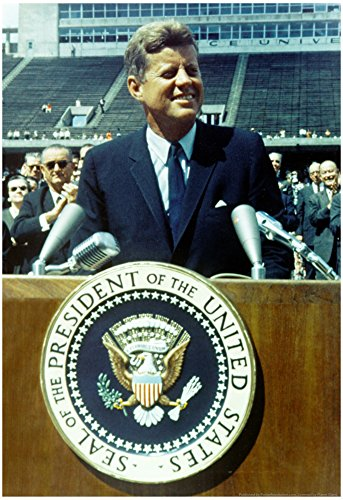 President John F Kennedy Speech Color Archival Photo Poster 13 x 19in with Poster Hanger