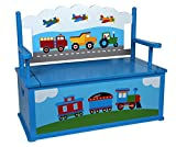 Olive Kids Trains, Planes, Trucks Toy Box Bench