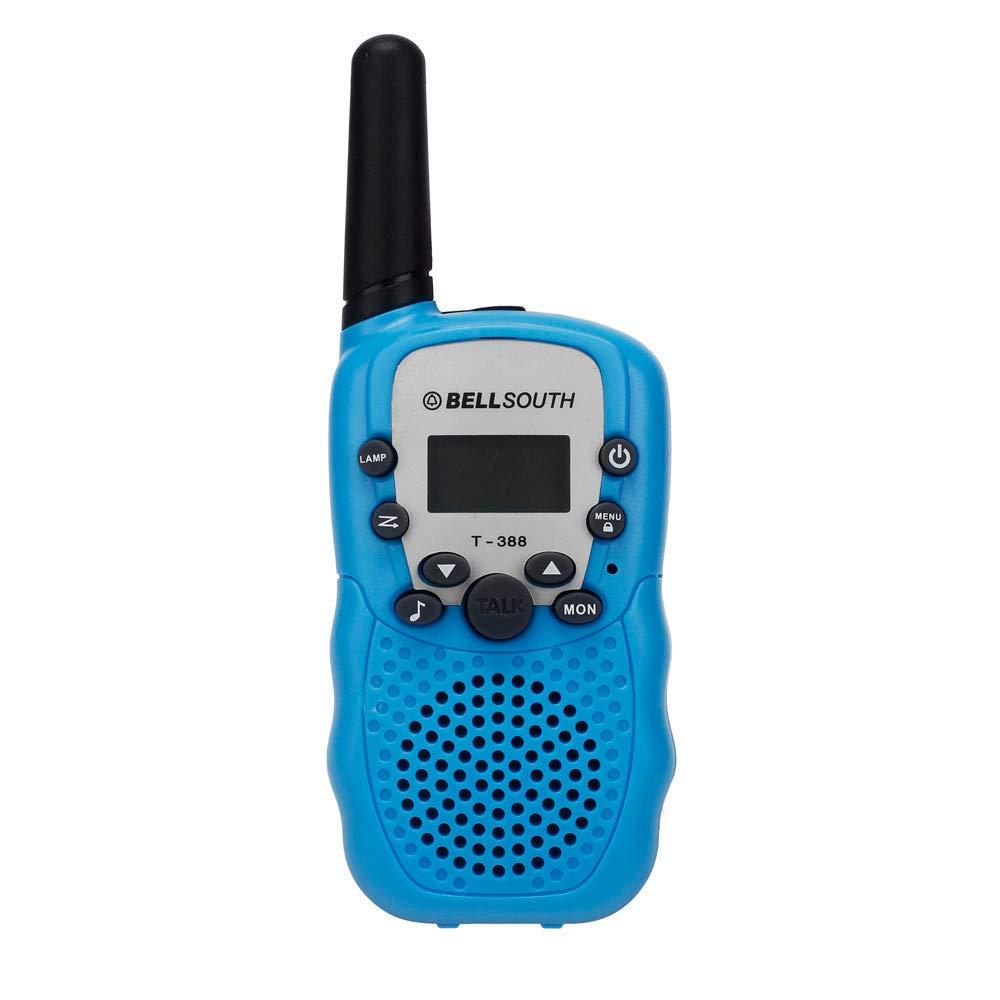 2pcs Portable Wireless Walkie-talkie Eight Channel 2 Way Radio Intercom 5KM Blue
