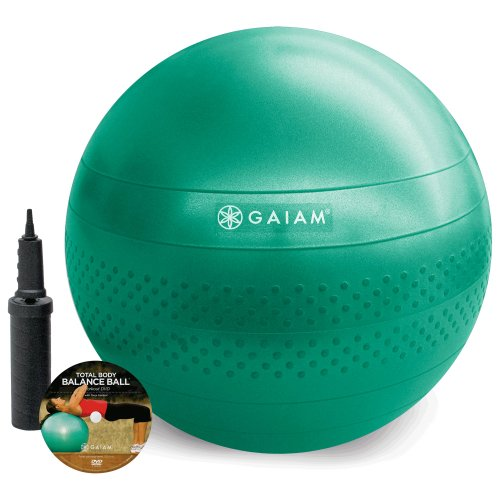 Gaiam Total Body Balance Ball Kit, Green, 65cm