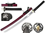 "40"" Handforge 1045 Carbon Steel Japanese Samurai Katana Sharp Functional Sword"
