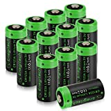[Updated] Enegitech CR123A Lithium Battery 3V Arlo VMS3230 Batteries 1600mAh Non-Rechargeable with PTC Protection for Polaroid Photo Camera Flashlight Torch Microphones -12 Pack