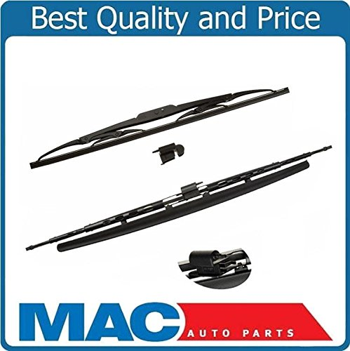 Fits For 03-09 Vanden plas XJ8 XJR (2) Front Direct Fit Wiper Blades OE Style by Mac Auto Parts
