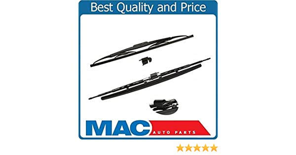 Front Direct Fit Wiper Blades OE Style Fits For 03-09 Vanden plas XJ8 XJR 2