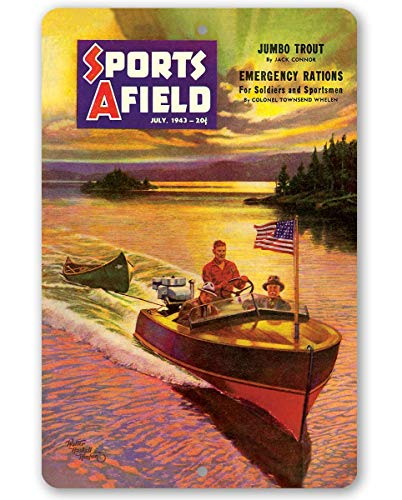 - Sports Afield On Golden Lake One Cover Metal Sign - 8