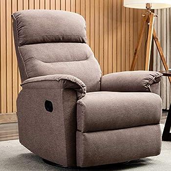 Amazon Com Canmov Swivel Rocker Recliner Chair Single