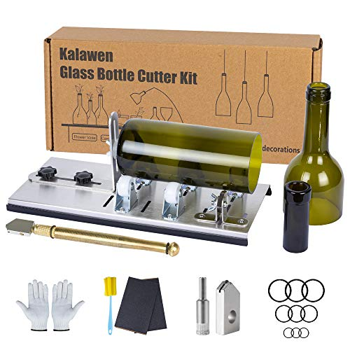 Kalawen Upgrade Glass Bottle Cutter Bottle Cutting DIY Machine for Cutting Wine, Beer, Liquor, Whiskey, Alcohol Round…