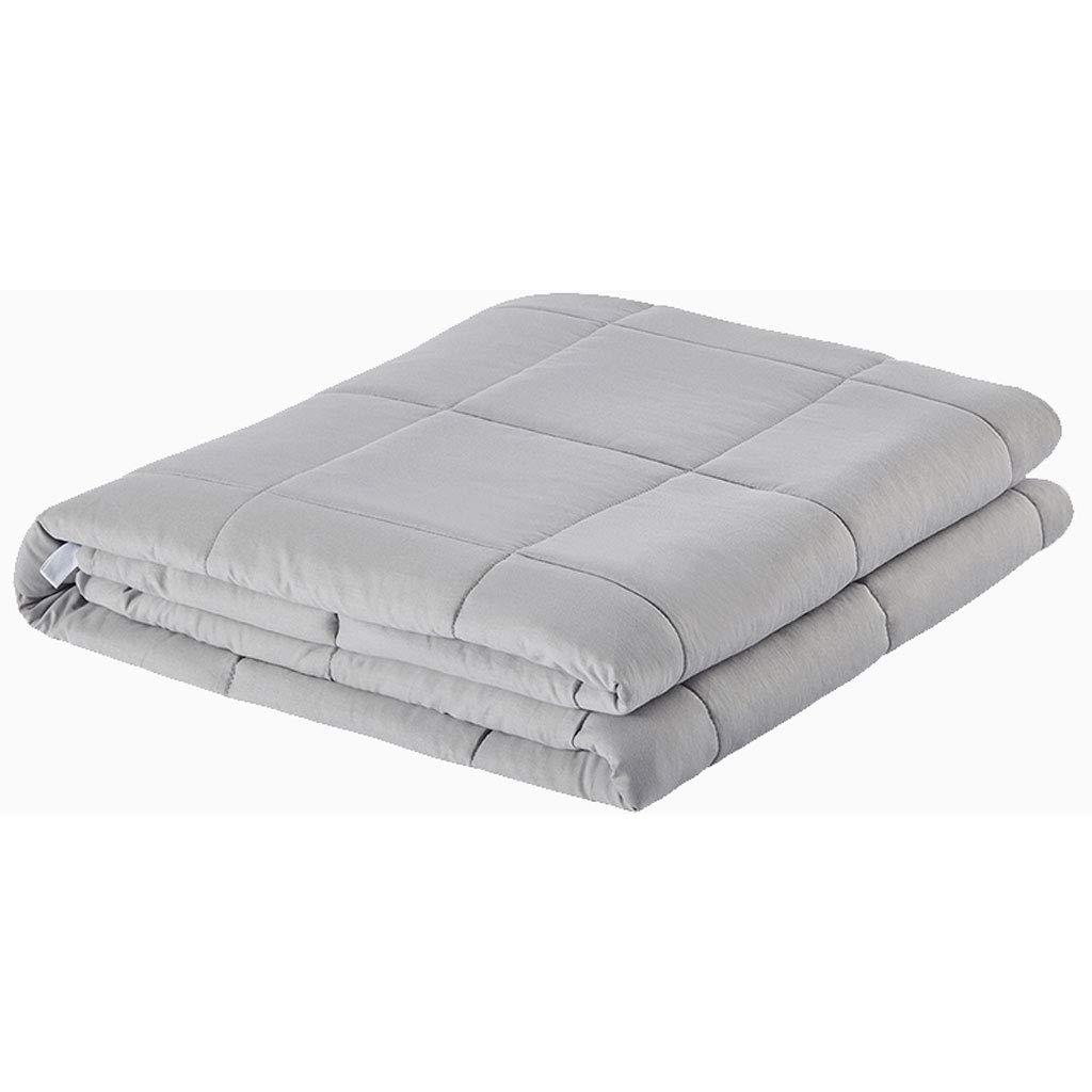 DGEG Schwerkraftdecke, Baumwolle gewichtete Decke für Erwachsene Dekompressionsschlafhilfe druckgewichteter Steppdecke (Farbe   Hellgrau, größe   122  183CM 5.4KG)