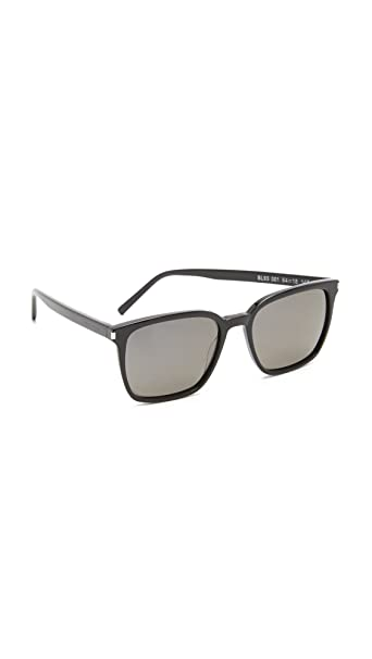 02dbd0286043 Yves Saint Laurent SL 93 001 Black / Smoke Sunglasses: Amazon.ca ...