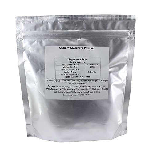 Sodium Ascorbate Powder, 5 lb Bag Food Grade FCC USP BIoActive Non-GMO Vitamin C Contains Ascorbic Acid by Duda Energy