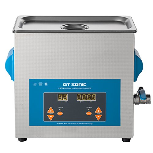 GT SONIC Digital Ultrasonic Cleaner 6L with Adjustable Timer and Heating...