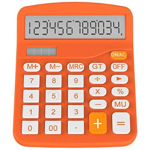 Calculator, Helect Standard Function Desktop Calculator (Orange) - H1001A