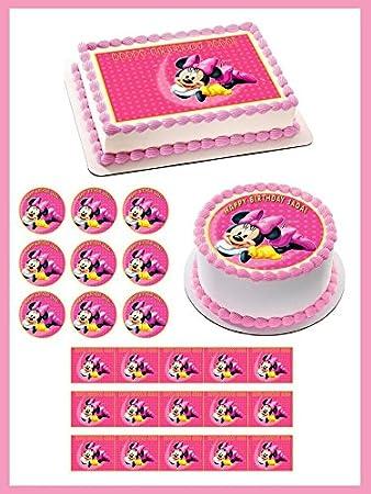 Unique Minnie Mouse Edible Cake Image