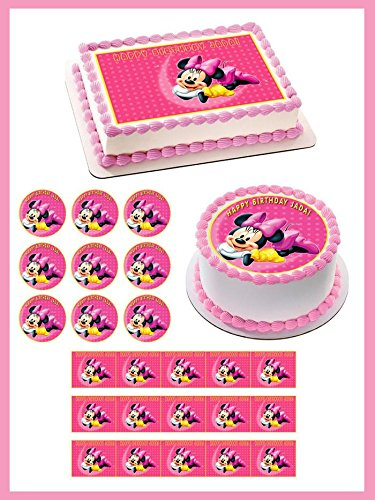 Stupendous Minnie Mouse Cake Toppers Shop Minnie Mouse Cake Toppers Online Funny Birthday Cards Online Kookostrdamsfinfo